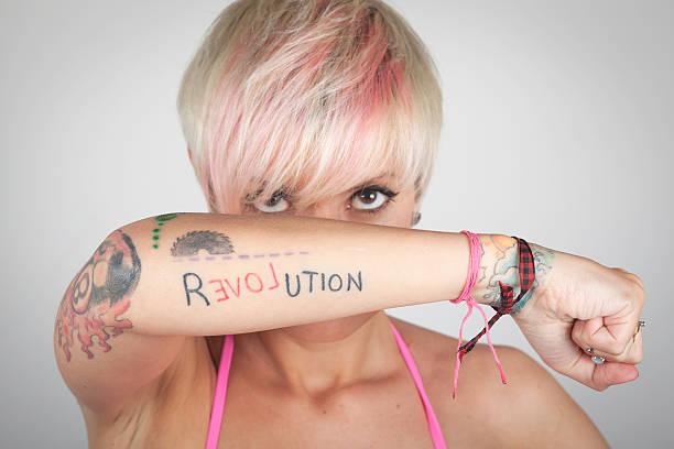 Women Tattooed Arm stock photo