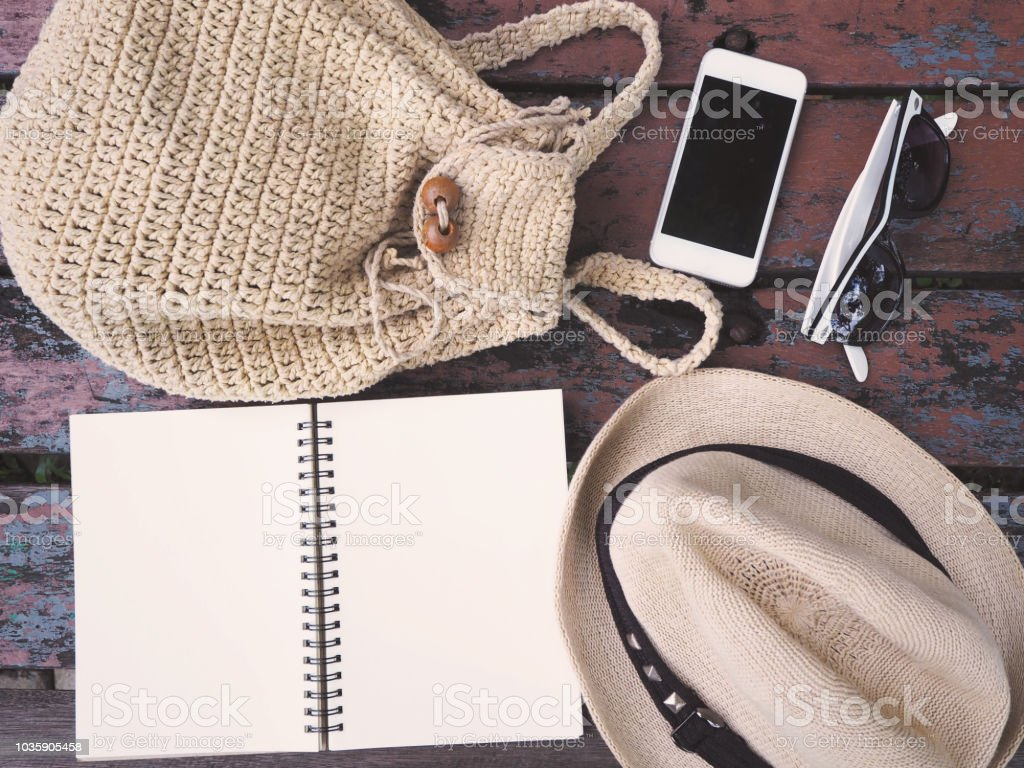 Women Travel Accessories And Costume For Vacation Stock Photo Download Image Now Istock
