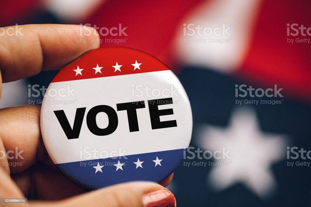women turn up to vote stock photo