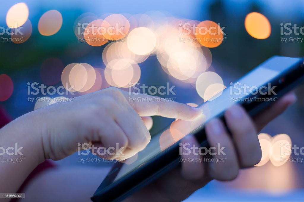Women Use Tablet stock photo