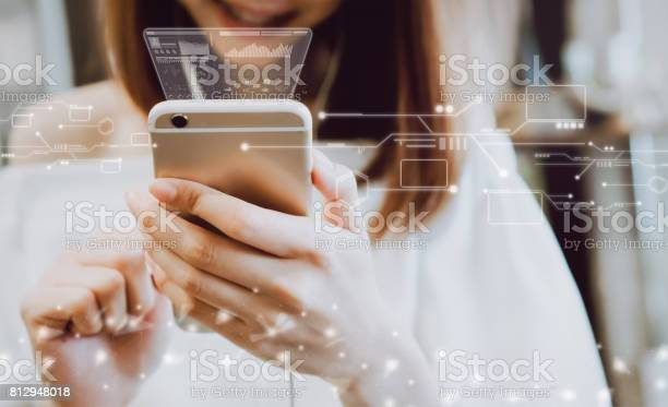 Women using a smartphone in the display and technology advances in picture id812948018?b=1&k=6&m=812948018&s=612x612&h=xouot zzhwaqzzevmh34lvtnrievbjqdvstgjjsixcy=