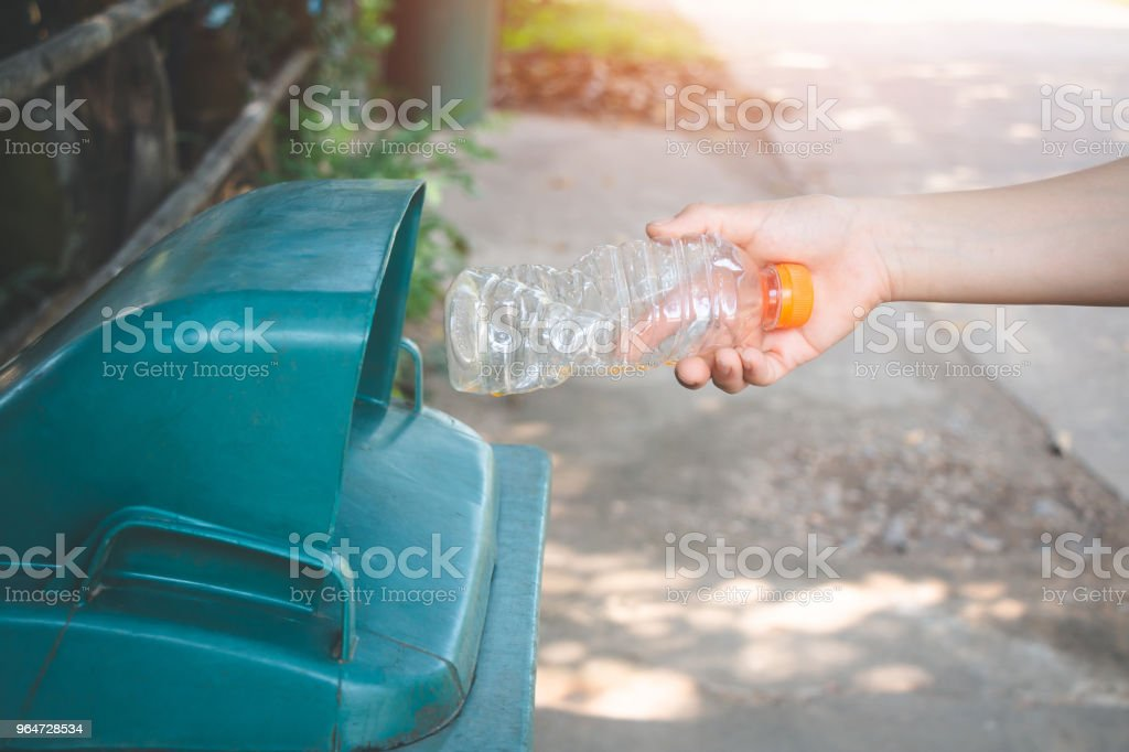 Women volunteer help garbage collection charity environment, concept cleaning. royalty-free stock photo