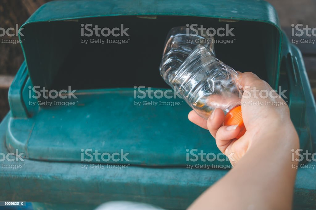 Women volunteer help garbage collection charity environment, concept cleaning. - Royalty-free Adult Stock Photo