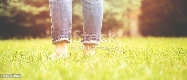 istock women walk in the grass 1007001966