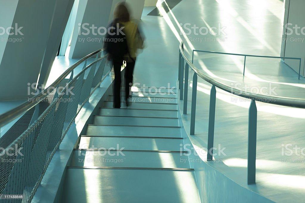 Women Walking Downstairs royalty-free stock photo