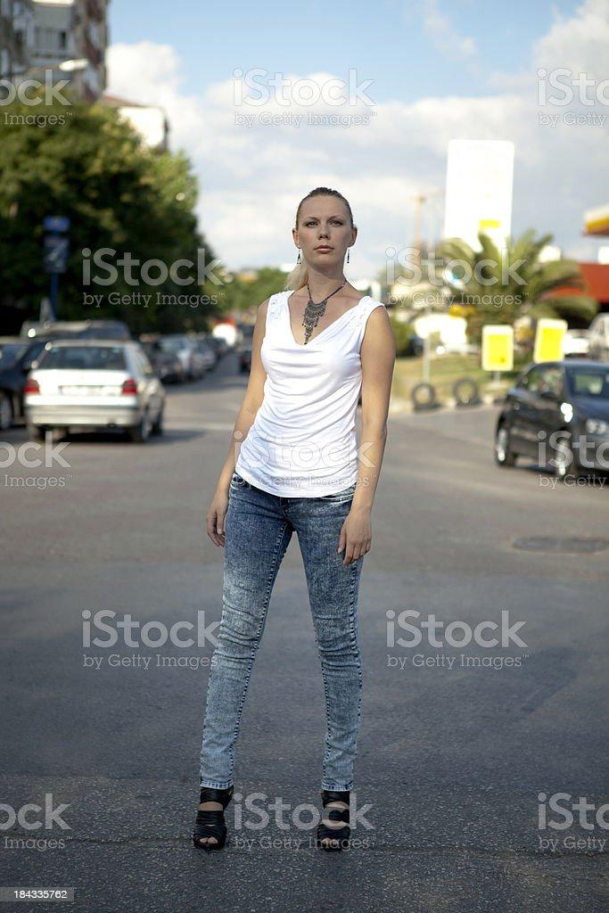 women walking royalty-free stock photo