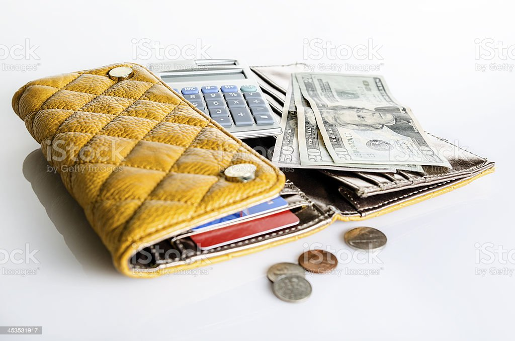 Women wallet and money royalty-free stock photo