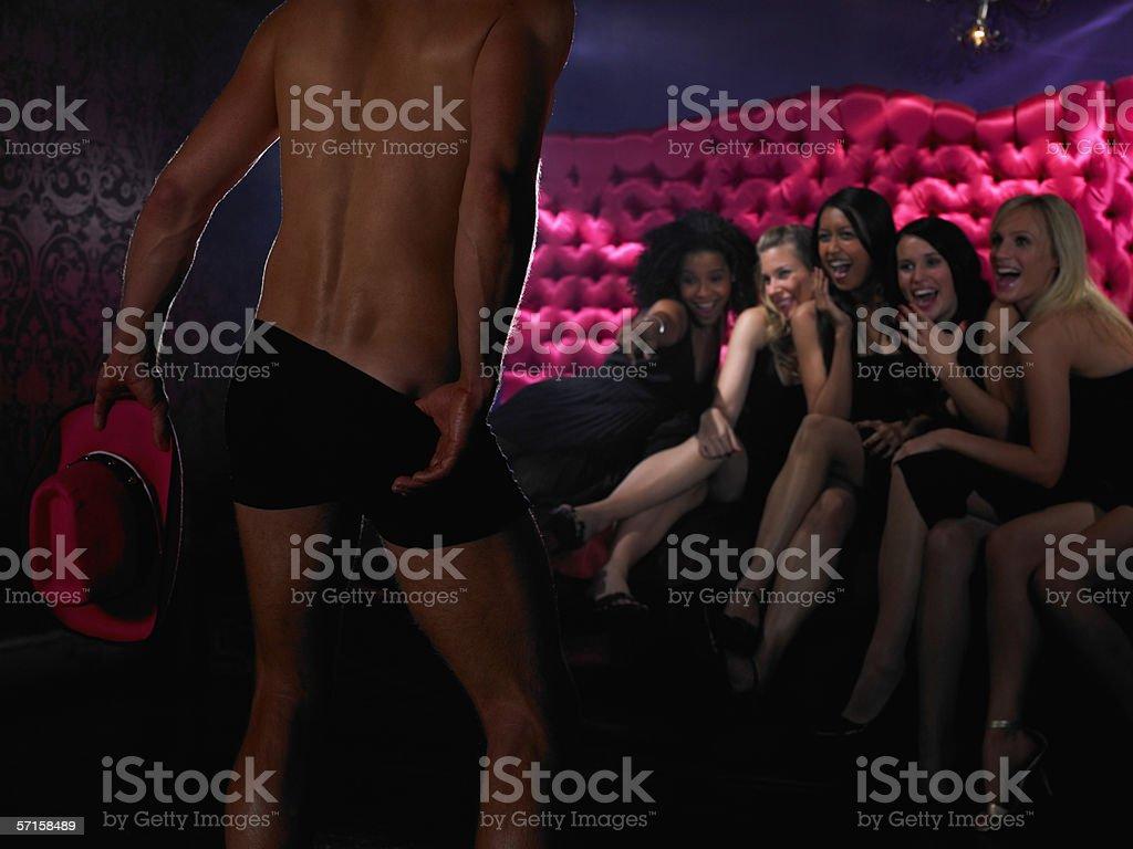 Men strip for women