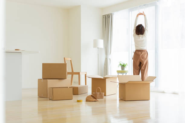 Women who are moving stock photo