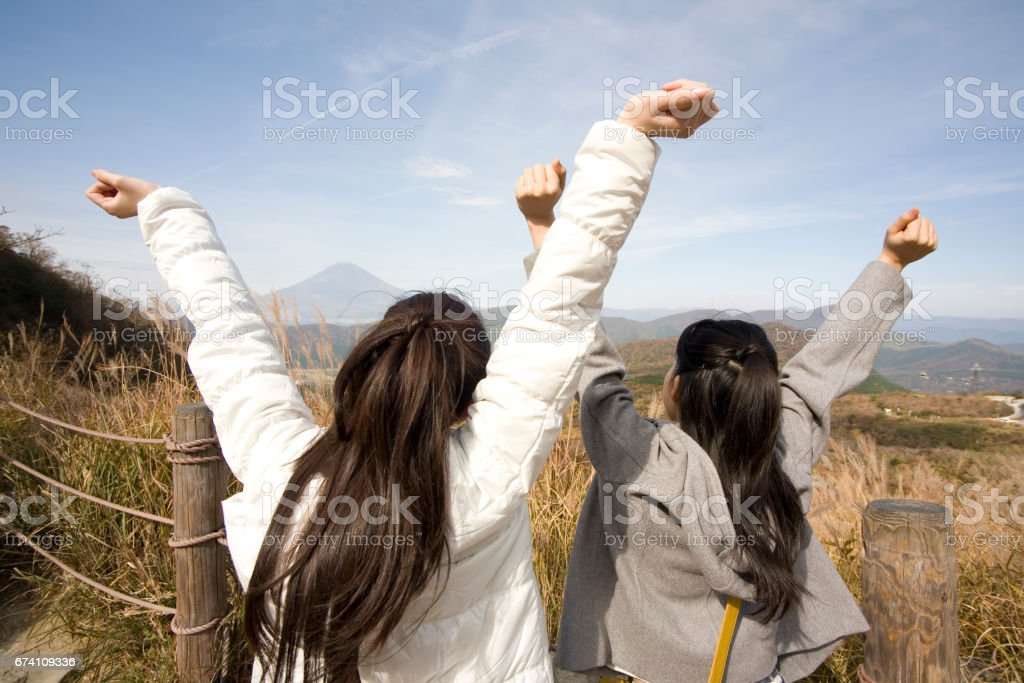 Women who stood on tiptoes royalty-free stock photo