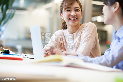 istock Women who work in the Office 700789512