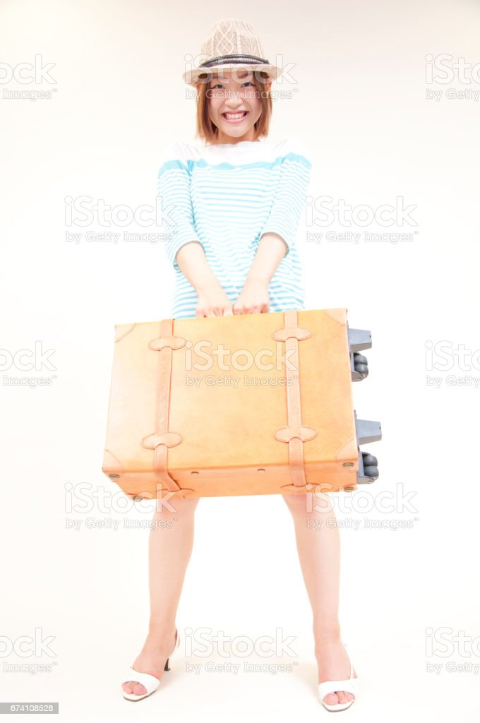 Women with carry bag royalty-free stock photo