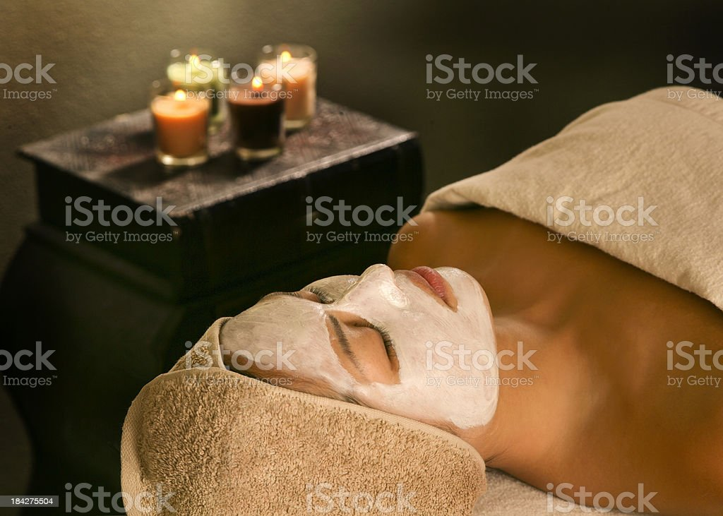 Women with facial mask royalty-free stock photo