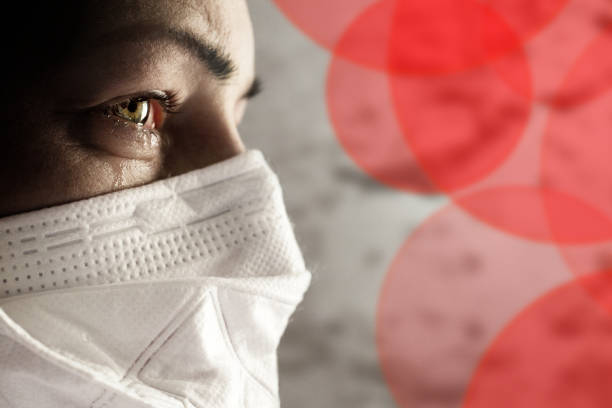 Women with safety mask from coronavirus. Coronavirus outbreak around the world. stock photo