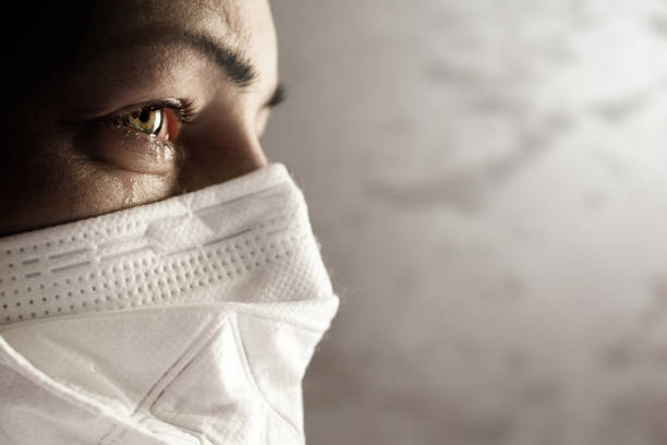 women with safety mask from coronavirus. covid-19 outbreak around the world - decrepitude stock pictures, royalty-free photos & images