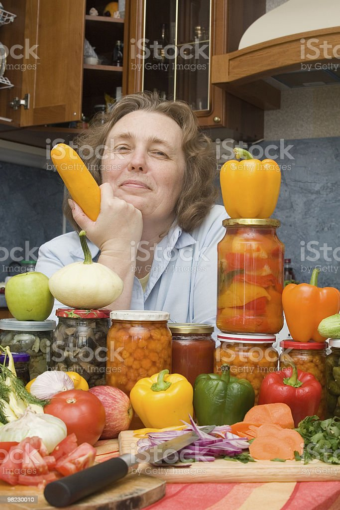 Women with vegetables royalty-free stock photo