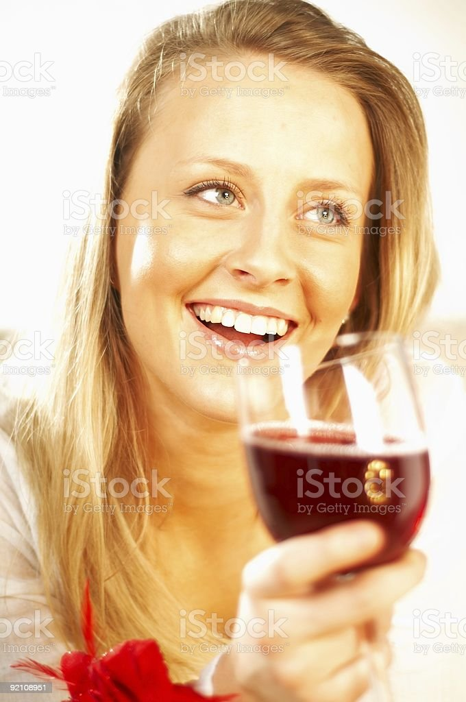 Women with wine royalty-free stock photo