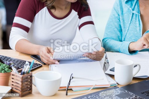 istock Women work together at the office 668442838