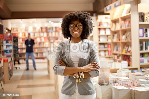 istock Women working at bookstore 467559046