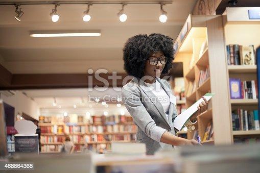 istock Women working at bookstore 468864368