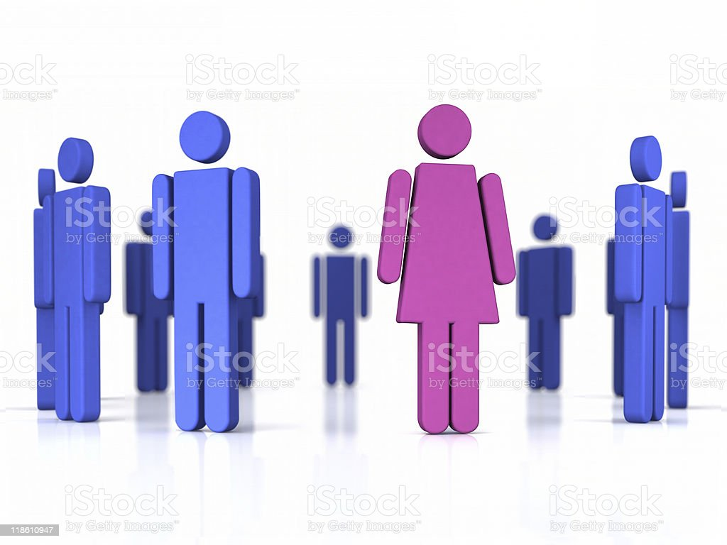 Women working in business illustration stock photo