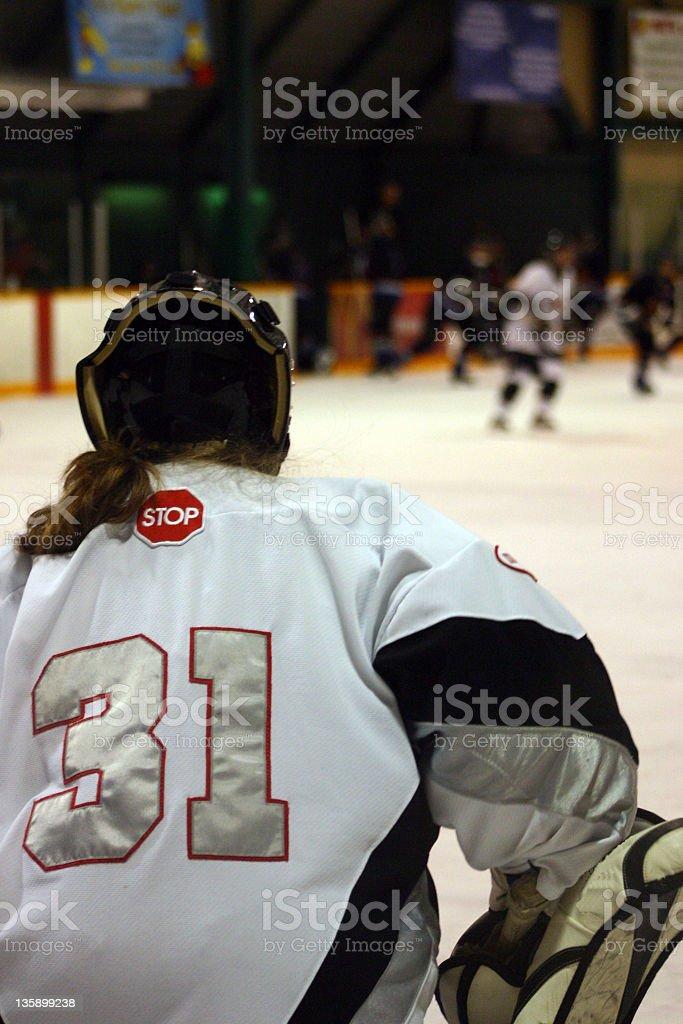 women_goalie stock photo