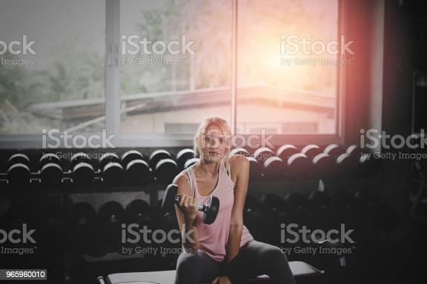 Womengym With Living Healthy Lifestyle Concept - Fotografias de stock e mais imagens de Adulto