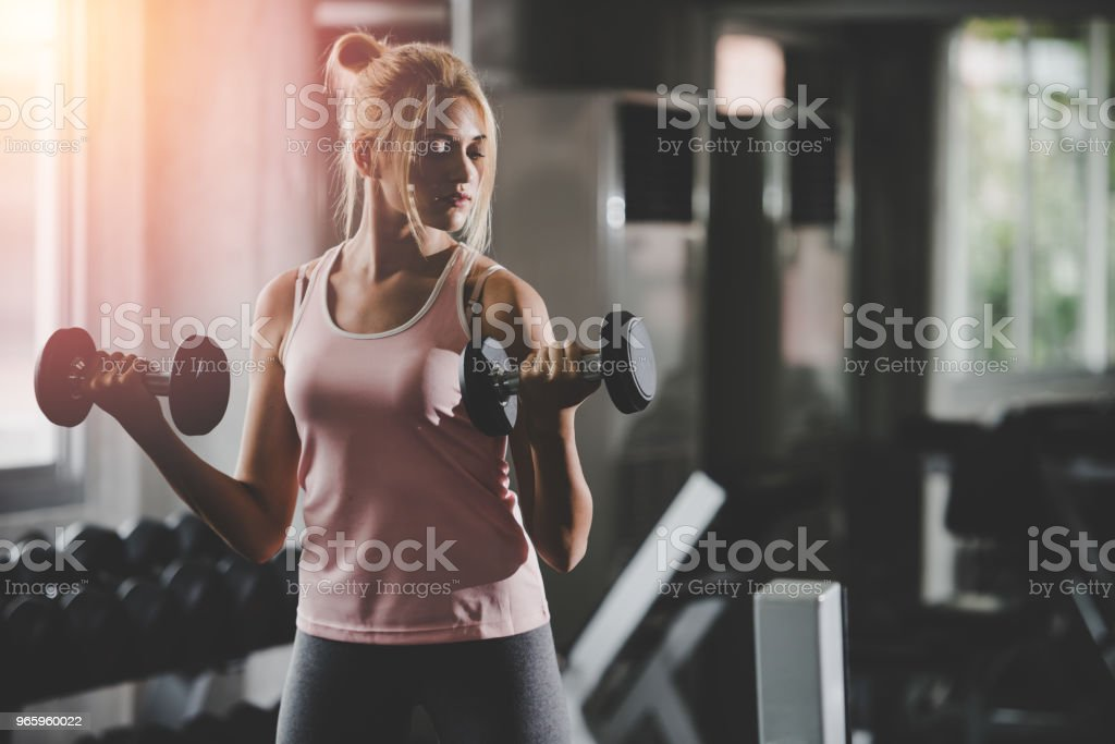 Women,gym with Living healthy lifestyle concept. - Royalty-free Activity Stock Photo