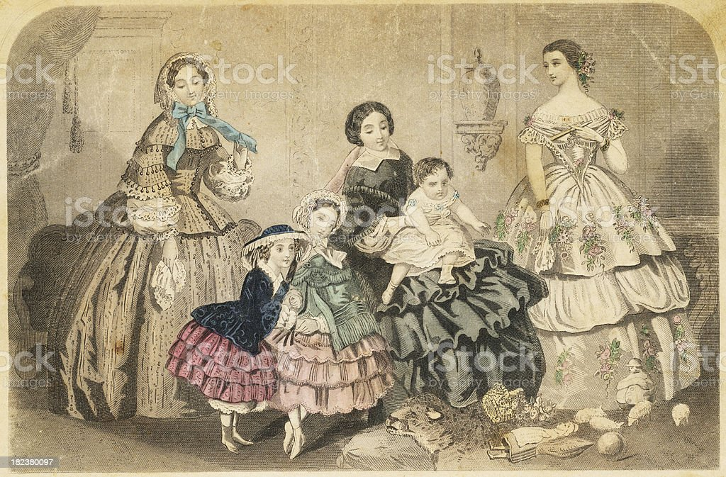 Women's 19th Century Fashion royalty-free stock photo