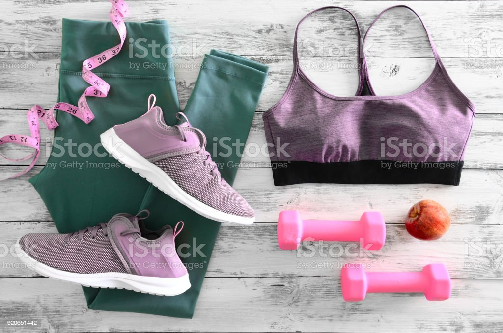 Womens active clothes footwear and equipment . Active lifestyle...