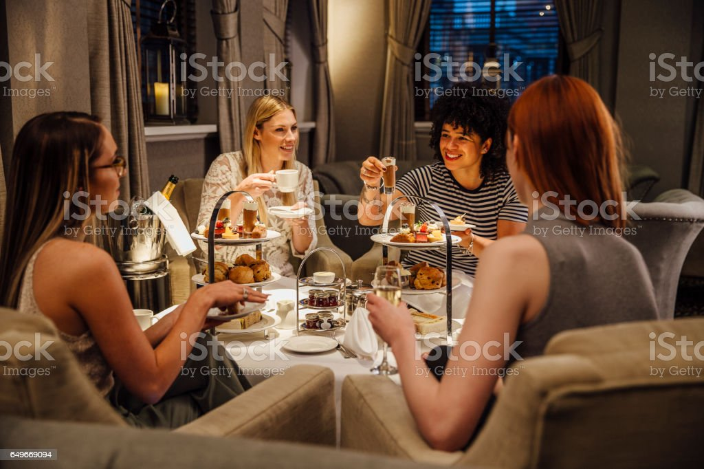 Women's Afternoon Tea stock photo
