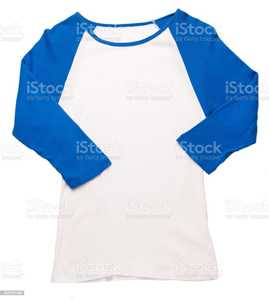 Women's baseball jersey on white stock photo