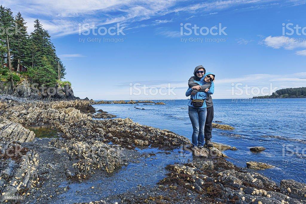 Womens Bay royalty-free stock photo