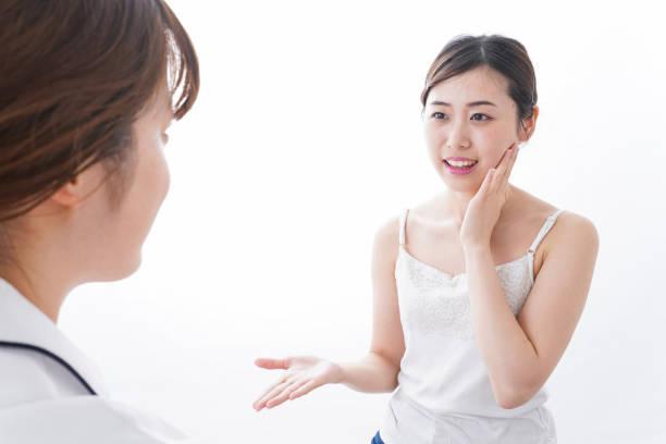 女性の美容クリニック ストックフォト