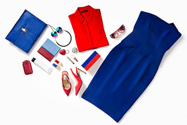 women's clothes and accessories - garment stock photos and pictures