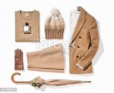 women's clothes on white background( with clipping path)