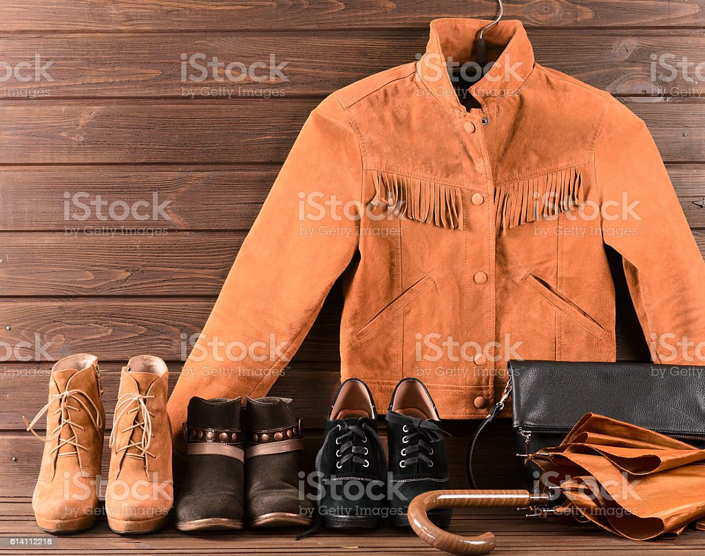 Women's clothing and accessories stock photo