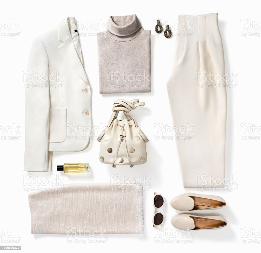 Women's clothing and personal accessories stock photo