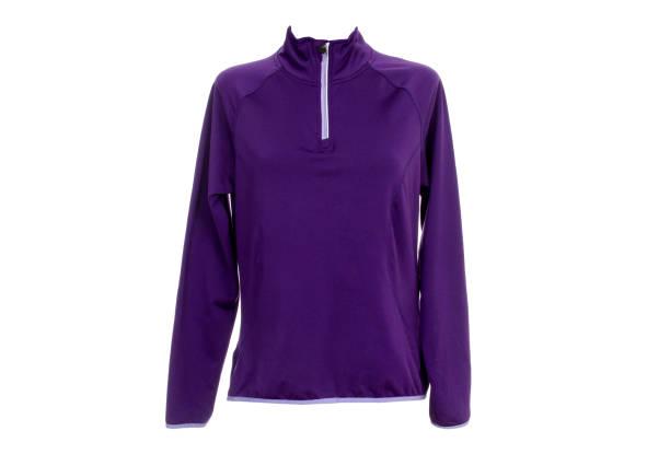 damenbekleidung für sport - fleecepullover stock-fotos und bilder