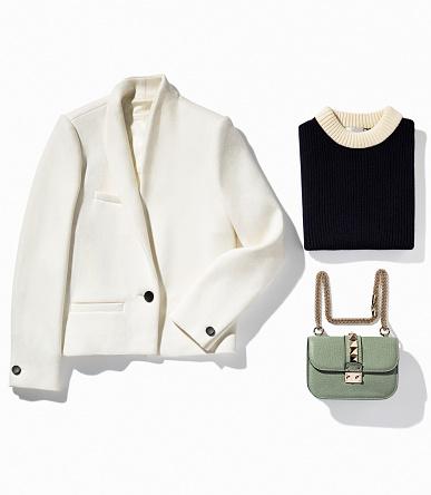 Women's clothing isolated on white background