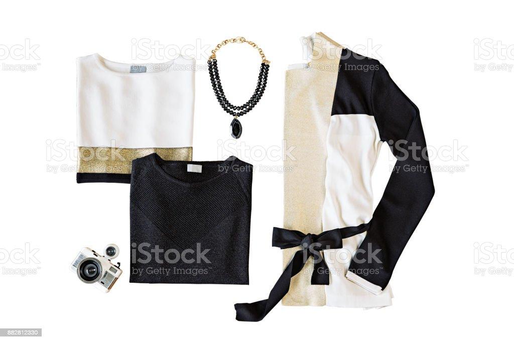 Damenbekleidung, isolated on White – Foto
