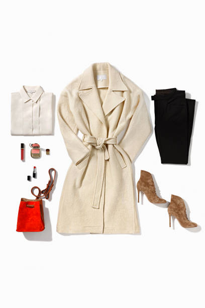 Women's clothing Women's clothing isolated on white background ( with clipping path) coat garment stock pictures, royalty-free photos & images