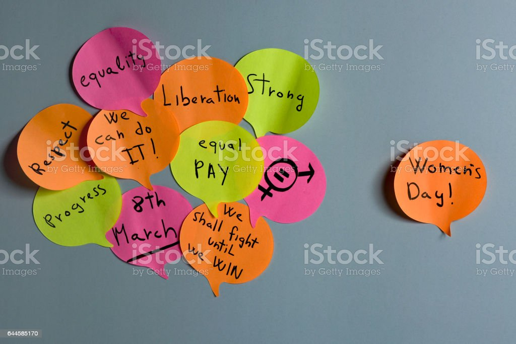 womens day and gender equality concepts stock photo