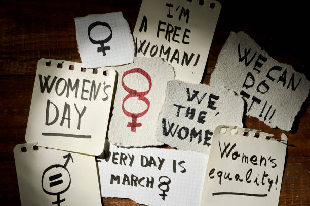 womens day and gender equality concepts - womens day stock photos and pictures