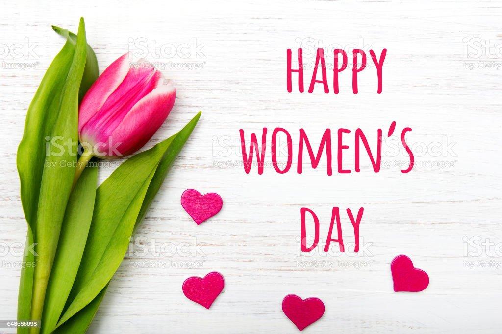 Women's day card. stock photo
