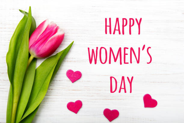 women's day card. - womens day stock photos and pictures