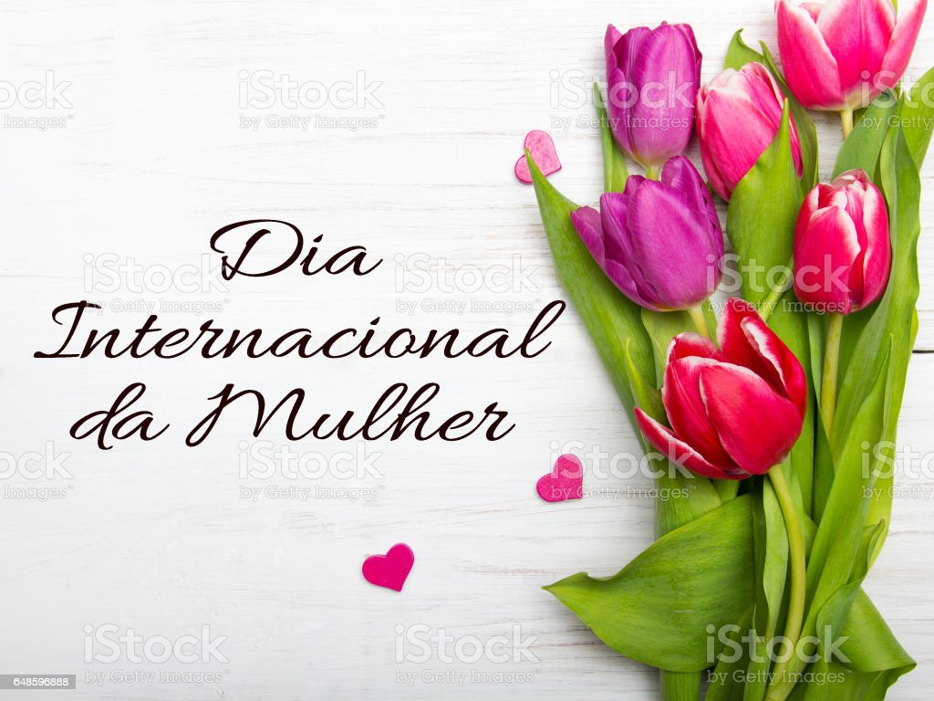 Womens Day Card With Portuguese Words Dia Internacional Da Mulher
