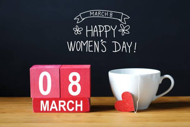 婦女節日消息與咖啡杯 - womens day 個照片及圖片檔