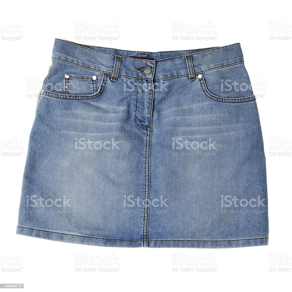 Women's denim skirt stock photo