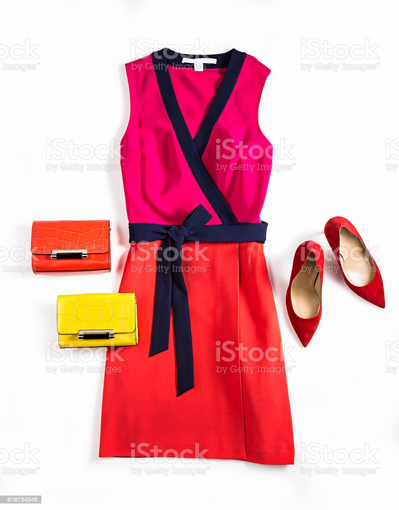 women's dress and personal accessories stock photo